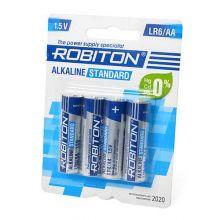 "Алкалиновая батарейка AA/LR6 ""Robiton"" 1.5v 4 шт."