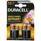 "Алкалиновая батарейка AA/LR6 ""Duracell"" 1.5v 4 шт."