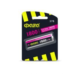"""Литиевый аккумулятор 18650 """"Фаза"""" 1800 mAh 3.7v"""