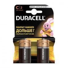 """Алкалиновая батарейка C/R14 """"Duracell"""" 1.5v 2 шт"""